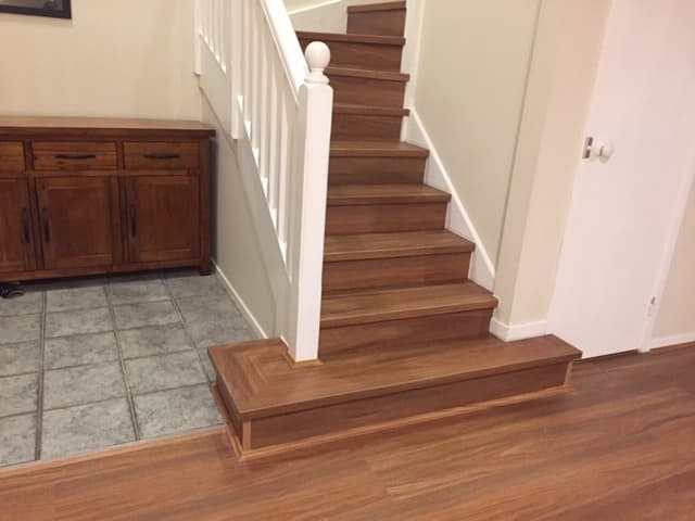 Completed boxed stair in hybrid